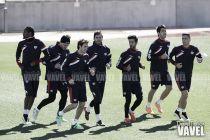 Último entreno antes de recibir al Almería