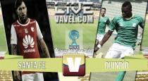 Resultado Independiente Santa Fevs Deportes Quindío en la Copa Águila 2016 (2-1)