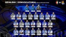 Convocatoria de la Real Sociedad frente al Osasuna