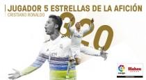 Cristiano, elJugador Cinco Estrellas de la Afición
