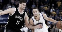 Stephen Curry y Brook Lopez, jugadores de la semana