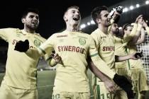 Em partida remarcada, Nantes derrota Caen e se afasta da zona de rebaixamento