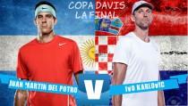 Del Potro vs Karlovic en vivo online en la final de Copa Davis 2016