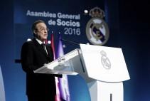 """Florentino Pérez, optimista en la Asamblea: """"Vivimos uno de los mejores momentos de nuestra historia"""""""