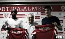 Diamanka y Quintanilla, presentados como nuevos jugadores de la UD Almería