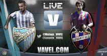 Málaga vs Levante en vivo y en directo online