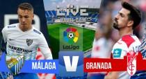 Partido Málaga vs Granada CF en vivo y en directo online en La Liga 2016