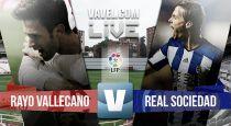 Rayo Vallecano vs Real Sociedad en vivo y en directo online en la Liga BBVA 2015