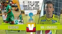 Resultado final: La Equidad - Millonarios por Copa Águila 2016 (0-0)
