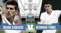 Live Djokovic Vs Tomic, risultato terzo turno Wimbledon 2015 in diretta (3-0)