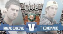 Resultado Djokovic vs Kokkinakis en Roland Garros 2015 (3-0)