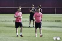 Leo Messi de vuelta al gimnasio