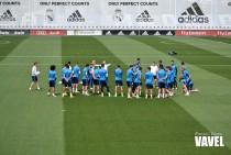 Nueva sesión de entrenamiento del Madrid en el 'Open Media Day'