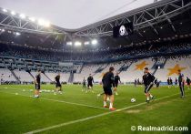El Madrid entrenó en el Juventus Stadium