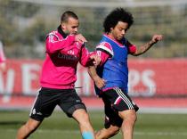 Pepe se entrenó en solitario en la tercera sesión de la semana