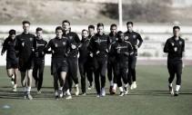 El Málaga realiza el primer entrenamiento de la semana