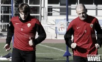 El Almería continúa trabajando con Soriano y Dubarbier entre algodones