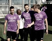 Entrenamiento con el Castilla, ya sin los internacionales