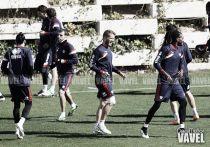El Rayo Vallecano se midió con el filial en una sesión matutina