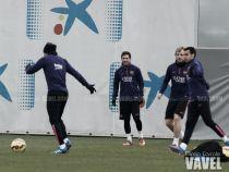 El Barça se entrena con toda la plantilla