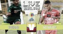 Equidad vs Patriotas en vivo y en directo online en Liga Águila 2016-II (0-0)