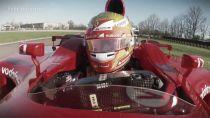 Esteban Gutiérrez maneja el F2001 de Michael Schumacher
