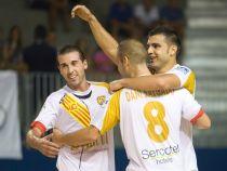 Marfil Santa Coloma primer líder de la LNFS tres vencer al Azkar Lugo