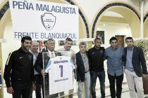 El Málaga CF en la inauguración del 'Frente Blanquiazul'