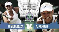 Resultado Garbiñe Muguruza vs Angelique Kerber en Wimbledon 2015 (2-1)