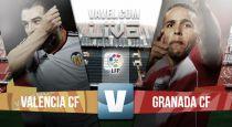 Valencia vs Granada en vivo y en directo online en la Liga BBVA 2015