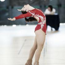 Grace Lloret se cuelga el oro en el Campeonato de España Júnior de Patinaje Artístico
