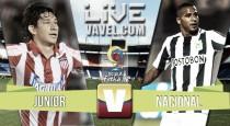 Resultado final: Junior - Nacional por la Liga Águila 2016 (3-3)