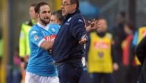 """Napoli, Sarri: """"Higuain non ha salutato nessuno. Nessun alibi, non firmo per il secondo posto"""""""