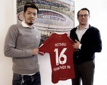 Hannover 96 sign Japanese international Yamaguchi