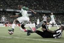 Andrés Felipe Ibargüen, el jugador más combativo en la derrota frente a Botafogo
