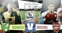 Score Norwich City 1-1 Arsenal in Premier League 2015