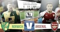 Norwich City vs Arsenal Live Score Stream Commentary of Premier League 2015 (0-0)