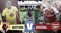 Resultado Watford vs Arsenal en vivo y en directo online Premier League 2016