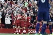 Un Liverpool solvente golea a un paupérrimo Leicester