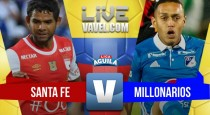 Resultado final: Santa Fe vs Millonarios 2-1
