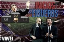 Luis Enrique, arranca como Cruyff y Guardiola