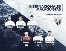 Así les ha ido a los internacionales malaguistas y sus selecciones