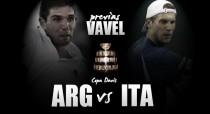 Copa Davis 2016. Italia - Argentina: un duelo 100% arcilla en busca de las semifinales