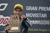 Navarro discusses his Moto3 win in Aragon