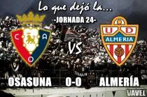 Lo que dejó la jornada 24: Osasuna 0-0 Almería