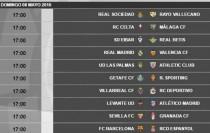 Levante - Atlético, el 8 de mayo a las 17:00 horas