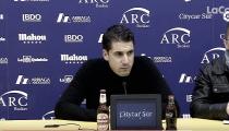 Julio Velázquez: ''Hemos sido merecedores de ganar, pero nos ha faltado concretar las ocasiones''