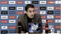 Julio Velázquez: ''El que nos toque lo afrontaremos con ilusión, pero no nos desviará de la liga''