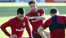 Simeone ensaya con Gaitán en el once y Saúl haciendo 'de Koke'