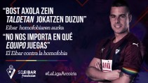 El Eibar se suma a la campaña contra la homofobia en el fútbol